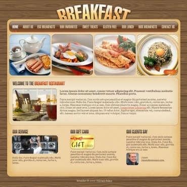 Cafe and Restaurant Website Template