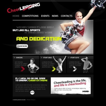 Cheerleading Website Template
