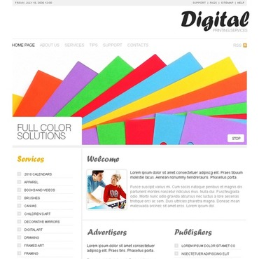 Print Shop Website Template