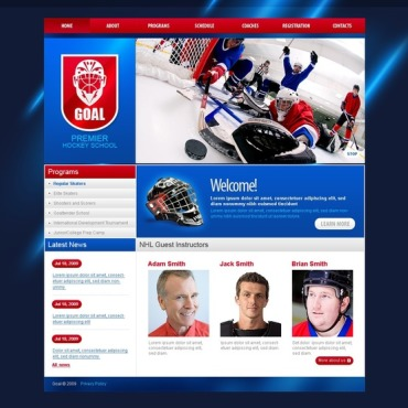Hockey Website Template