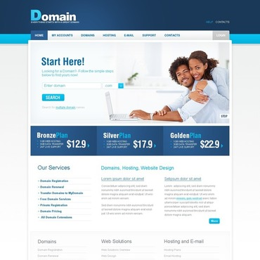Domain Registrar Joomla Template