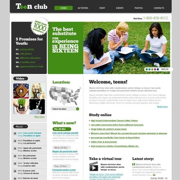 Teen Club Website Template