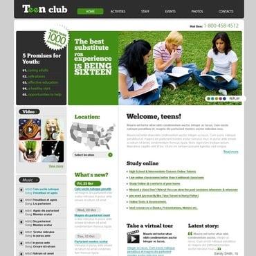 Teen Club Website Template