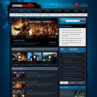 Games Joomla Template