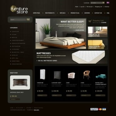 Furniture ZenCart Template