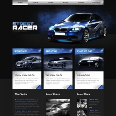 Car Racing Website Template