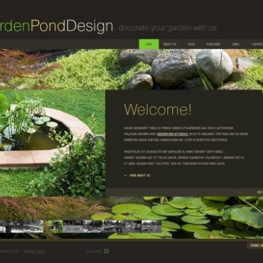 Garden Design Flash Template