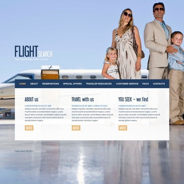 Airline Tickets Website Template