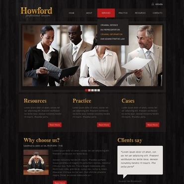 Lawyer Drupal Template