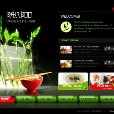 Chinese Restaurant SWiSH Template