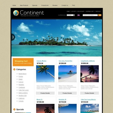 Travel Store ZenCart Template #30484