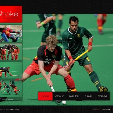 Field Hockey Flash Template