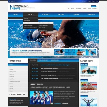 Swimming Drupal Template