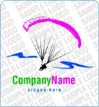 Paragliding Logo Template