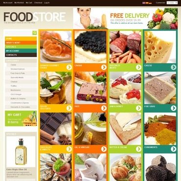 Food Store OsCommerce Template