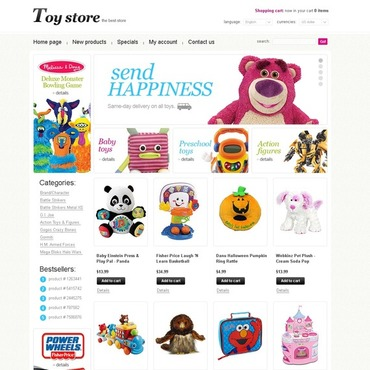 Toy Store OsCommerce Template