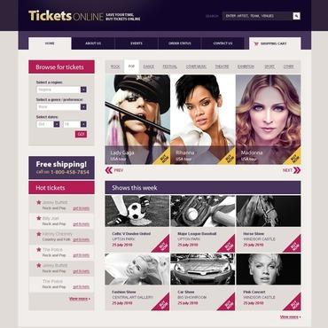 Tickets Website Website Template