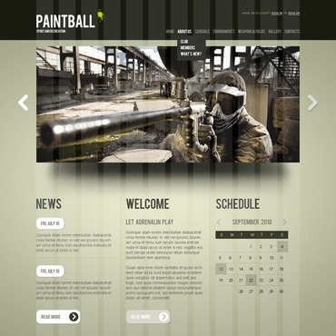 Paintball Website Template