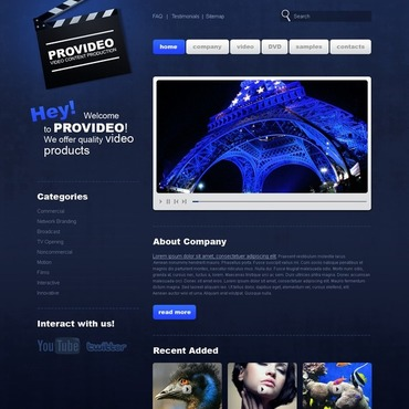 Video Lab Website Template