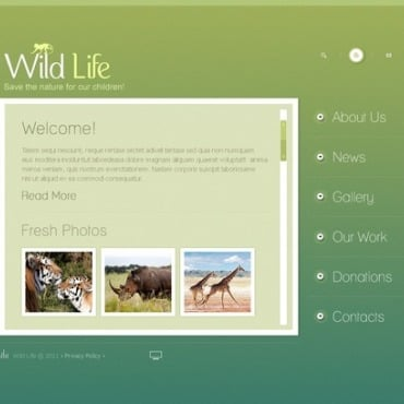 Wild Life Flash Template