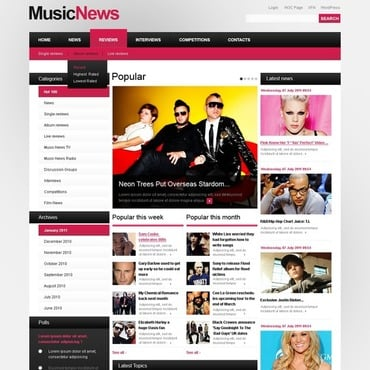 Music Portal WordPress Theme