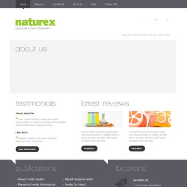 Herbal Joomla Template