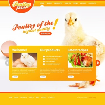 Poultry Farm Flash Template