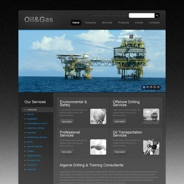 Gas & Oil Website Template