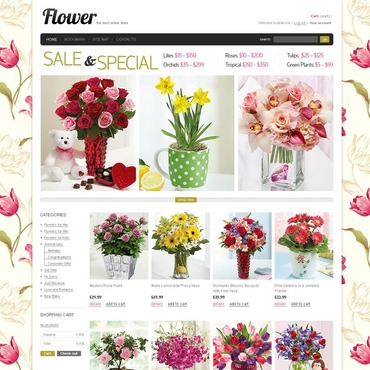 Flower Shop Facebook Flash Template