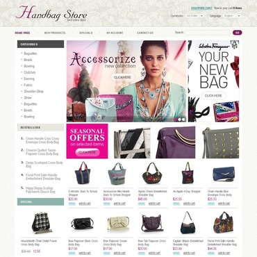 Handbag OsCommerce Template