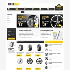 Wheels & Tires VirtueMart Template