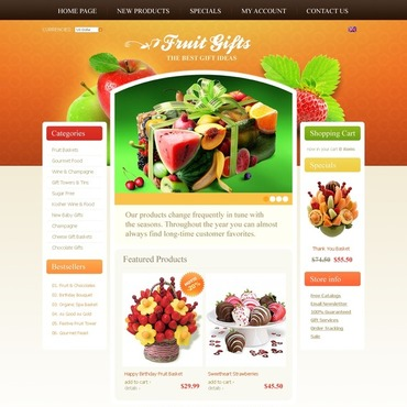 Fruit OsCommerce Template