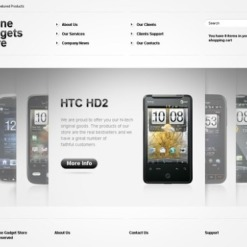 Electronics Store Flash CMS Template