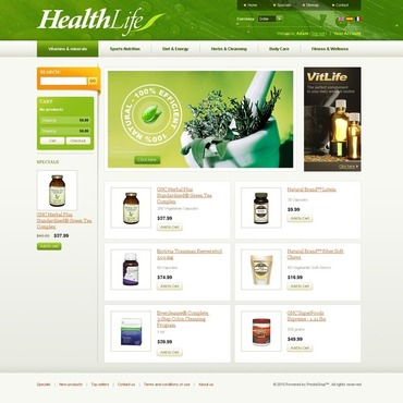 Herbal PrestaShop Theme