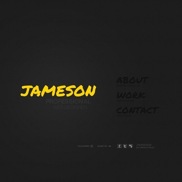 Designer Portfolio Flash Template