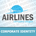 Airline Tickets Corporate Identity Template