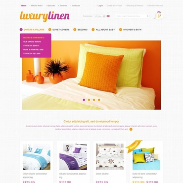 Interior & Furniture OsCommerce Template #35792