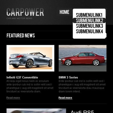 Car Turnkey CMS Facebook Template