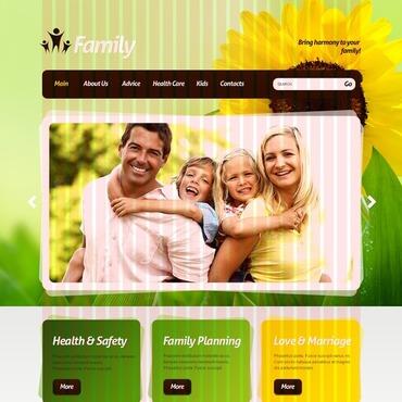 Family Center PSD Template