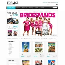 DVD Store VirtueMart Template