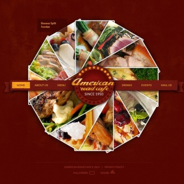 Cafe Facebook Flash CMS Template