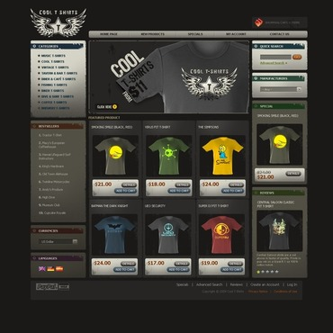 T-shirt Shop OsCommerce Template