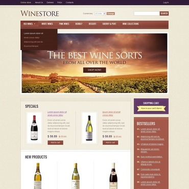 Winery VirtueMart Template