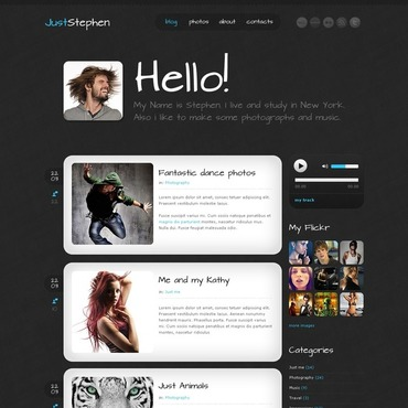 Personal Page WordPress Theme