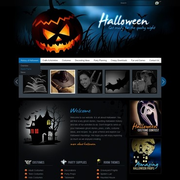 Halloween Website Template