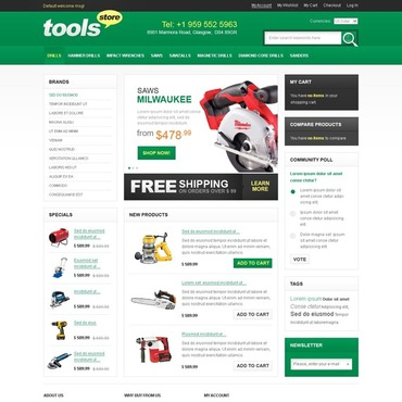 Tools & Equipment Magento Theme