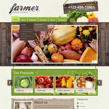 Vegetable Website Template