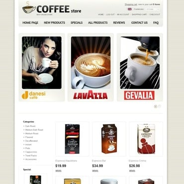 Coffee Shop ZenCart Template