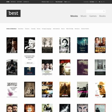 DVD Store PrestaShop Theme