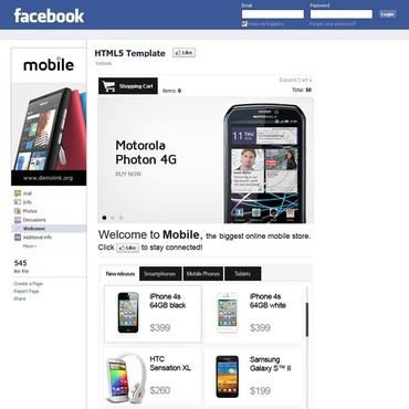 Mobile Store Facebook Template